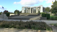 The Mardasson Memorial, Bastogne, Belgium. Stock Footage
