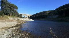 Pont Du Gard Aqueduct - Vers Pont du Gard France - HD 4K+ Stock Footage
