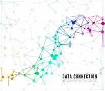 Stock Illustration of Abstract network connection background