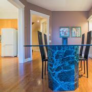 Interior design of dining room Stock Photos