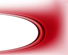 red arc - stock illustration