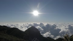 Sun over clouds at Ventisqueros. Timelapse. Stock Footage