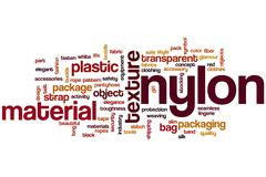 nylon word cloud - stock illustration