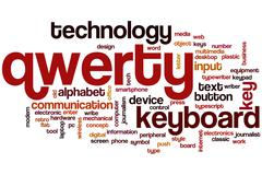 qwerty word cloud - stock illustration