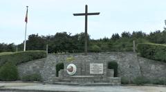 Corporal Emile Cady Memorial, Bastogne, Belgium. Stock Footage