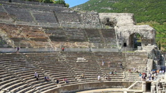 Great Theater of Ephesus Ancient City Stock Footage