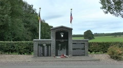 The 506th PIR 101st Airborne Division 'E' Company memorial, Foy, Belgium. Stock Footage