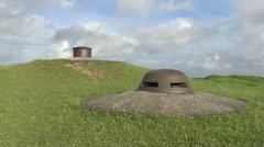 Artillery turret and an observation post, Fort Douaumont, near Verdun, France. Stock Footage