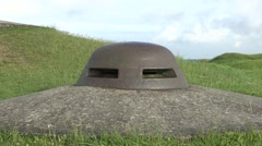 The slits on an observation post, Fort Douaumont, near Verdun, France. Stock Footage