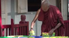 Amarapura, monk at Mahagandayon monastery Stock Footage