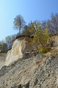 chalk rocks of rugen island (germany, mecklenburg-vorpommern) - stock photo
