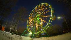 Ferris wheel in park of culture and recreation, krasnoyarsk, time lapse Stock Footage