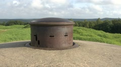 Raised turret of a machine gun post at Fort Douaumont, near Verdun, France. Stock Footage