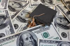 student loan payments - stock photo