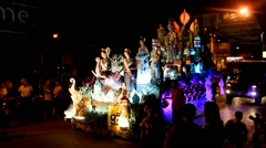 Yee Peng & Loi Krathong Festivals - stock footage