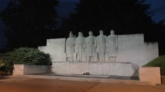 The Five Defenders of Verdun) the Verdun War Memorial, Verdun, France. Stock Footage