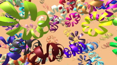 Flying ribbons generated 3D video Stock Footage