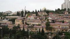 Panorama of West Jerusalem Yemin Moshe neighborhood . Stock Footage