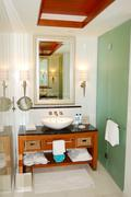 Bathroom in luxurious hotel, saadiyat island, abu dhabi, uae Stock Photos