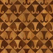 Abstract paneling pattern - seamless background - hipster symbol Stock Illustration