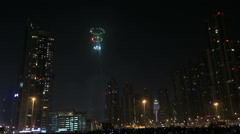 new year fireworks show at Burj khalifa in Dubai series 5 - stock footage