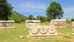 Sarcophagi in Ephesus, Turkey Country Stock Footage