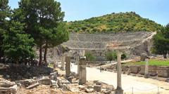 Harbor Street, Ephesus Stock Footage