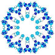 Artistic ottoman pattern series fourty two Stock Illustration