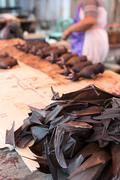 Stock Photo of bat meat being sold in market