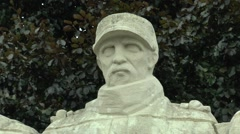The Colonial Soldier, the Five Defenders of Verdun war memorial, Verdun, France. Stock Footage