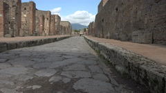 Naples Italy Pompeii ancient road history 4K 023 Stock Footage
