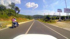 Steering on the Gokova Road while a quarter to summer vacation Stock Footage