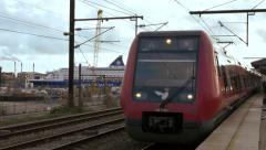 0613 UHD local train Stock Footage