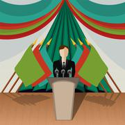 Chairman (politician) Stock Illustration