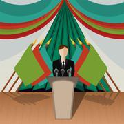 chairman (politician) - stock illustration