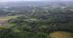 Chocolate Hills of Bohol Stock Footage