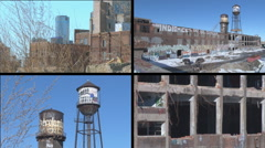 Abandoned Auto Plant in Detroit Stock Footage