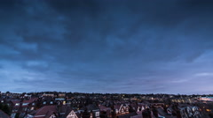 Clouds rolling above London sky timelapse - stock footage
