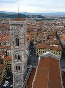Giotto's Bell Tower at the Florence Cathedral, Tuscany, Italy Stock Photos
