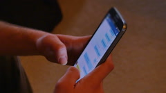 2718 Man Texting on Smart Phone Inside House, HD - stock footage