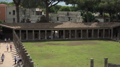 Naples Italy Pompeii ancient Roman Amphitheater entrance 4K 047 - stock footage