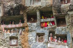 Traditional burial site in tana toraja Stock Photos