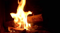 Fireplace ambiance - stock footage