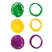 Stock Illustration of mardi gras acrylic circles