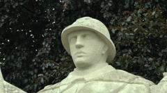 The Infantryman on the Five Defenders of Verdun Memorial, Verdun, France. Stock Footage