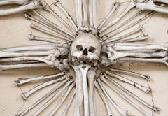 Sedlec ossuary - charnel house Stock Photos