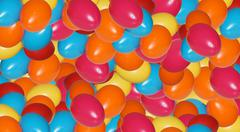 colorful easter decoration - stock photo