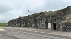 Exterior view of Fort de Vaux near Verdun, France. Stock Footage