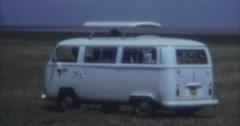 Safari Bus 16mm 70s 60s Afrika Kenia Stock Footage