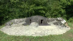 A Pamart pillbox, one of three around Fort Souville, near Verdun, Meuse, France. Stock Footage
